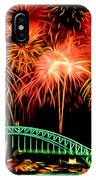 Beautiful Colorful Holiday Fireworks 2 IPhone Case