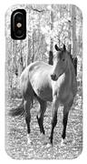 Beautiful Horse In Black And White IPhone Case