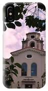 Beautiful Mason Hall - Pomona College - Trees Framing IPhone Case