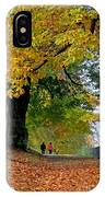 Beautiful Morning Walk In Autumn IPhone Case