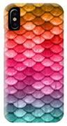 Beautiful Pastel Diagonal Rainbow Spectrum II Mermaid Fish Scales IPhone Case