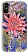 Beautiful Pink Lotus Abstract IPhone Case