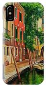 Beautiful Side Canal In Venice IPhone Case