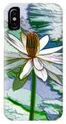 Beautiful White Water Lilies Flower IPhone Case