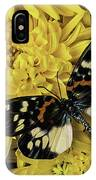 Beautiful Wings On Yellow Mums IPhone Case