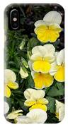 Beautiful Yellow Pansies IPhone X Case