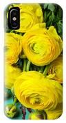 Beautiful Yellow Ranunculus IPhone Case