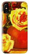 Beautiful Yellow Roses IPhone Case
