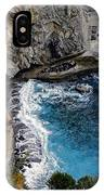 Beautifully Carved Out Swimming Deck On The Edge Of The Sea On The Amalfi Coast In Italy  IPhone Case