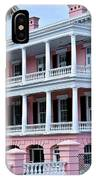 Beauutiful Pink Colonial Style Mansion IPhone Case