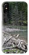 Beaver Dam And Lodge IPhone Case