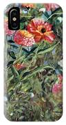 Bed Of Zinnias IPhone Case