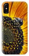 Bee And Sunflower. IPhone Case
