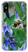 Bee Buzzing Through Blue Beauty IPhone Case