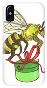Bee Carrying Gift Box Drawing IPhone Case