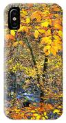 Beech Leaves Birch River IPhone Case