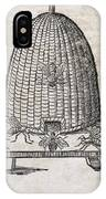 Bees And Beehive, 17th Century Artwork IPhone Case