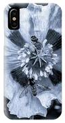 Double Bees On Poppy Bw IPhone Case