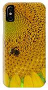 Bees Share A Sunflower IPhone Case