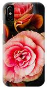 Begonia In Pink IPhone Case