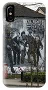 Belfast Mural - Civil Rights Association - Ireland IPhone Case