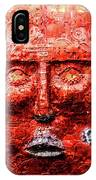 Belfast Wall - Red Face - Ireland IPhone Case