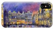 Belgium Brussel Grand Place Grote Markt IPhone Case