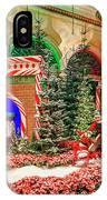 Bellagio Christmas Train Decorations Angled 2017 2 To 1 Aspect Ratio IPhone Case