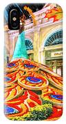 Bellagio Conservatory Fall Peacock Display Side View Wide 2 To 1 Ratio IPhone Case
