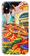 Bellagio Conservatory Fall Peacock Display Side View Wide 2017 IPhone Case