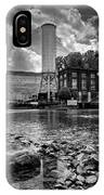 Below The Dam In Black And White IPhone Case