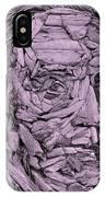 Ben In Wood Pink IPhone Case
