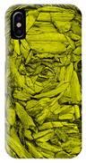 Ben In Wood Yellow IPhone Case