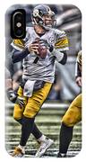 Ben Roethlisberger Pittsburgh Steelers Art IPhone X Case