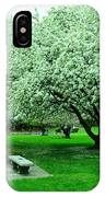 Bench Among.the Blossoms IPhone Case