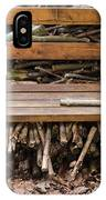 Bench And Wood Pile IPhone Case