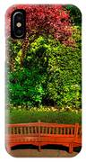 Bench At Bouchart IPhone Case