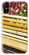 Bench In The Tulips IPhone Case
