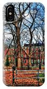 Bench View In Washington Square Park IPhone Case