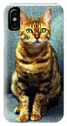 Bengal Cat Digital Oil Pastel IPhone Case