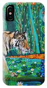 Bengal Tiger And Dragonfly IPhone Case