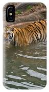 Bengal Tiger Wading Stream IPhone Case