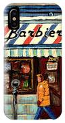 Bens Barbershop IPhone Case