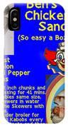 Ben's Catalina Chicken Kabob Sandwich Recipe IPhone Case
