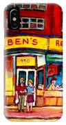 Ben's Delicatessen - Montreal Memories - Montreal Landmarks - Montreal City Scene - Paintings  IPhone Case