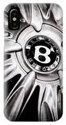 Bentley Wheel Emblem -0303ac IPhone Case