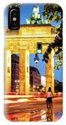 Berlin - Brandenburg Gate At Night IPhone Case