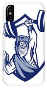 Berserker Lifting Barbell Kettlebell Crest Retro IPhone Case