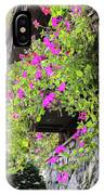 Beutiful Flowers Hang The Wall . IPhone Case