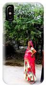 Bff Best Friends Pregnant Women Portrait Village Indian Rajasthani 1 IPhone Case